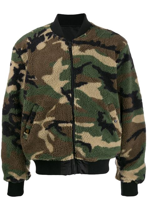 Bomber in shearling con stampa camouflage - uomo ALPHA INDUSTRIES | 19810603