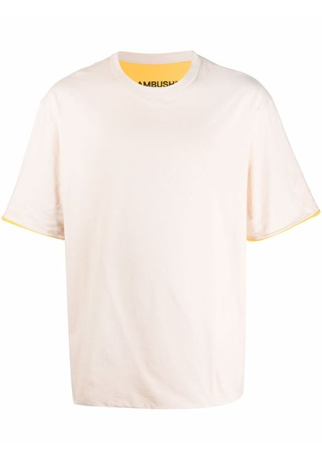 Beige and yellow T-shirt with turn-up sleeves - men  AMBUSH | BMAA003F21JER0010410