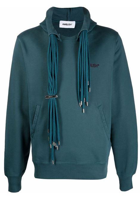 Atlantic blue multi-cord logo-embroidered sweatshirt - men  AMBUSH | BMBB003F21FLE0014848