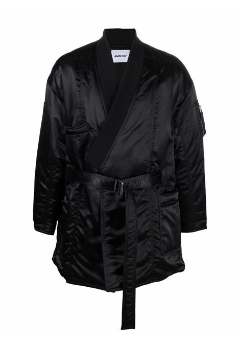 Black MA-1 kimono coat - men AMBUSH | BMEA002F21FAB0011000