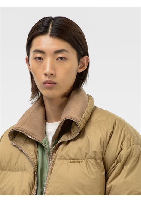 Beige and green reversible padded jacket - men AMBUSH | BMEA011F21FAB0016363