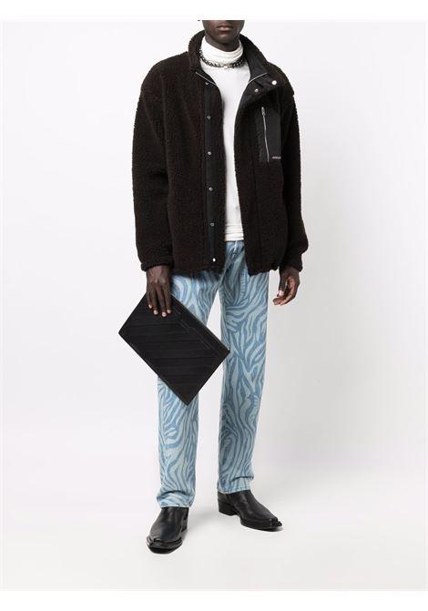 Brown and beige panelled sherpa jacket - men  AMBUSH | BMEA014F21FAB0016061