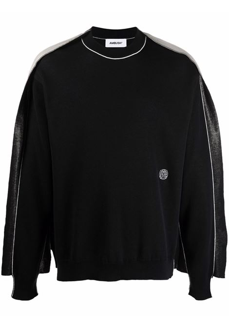 Two-tone fine-knit jumper - men  AMBUSH | BMHE006F21KNI0011000