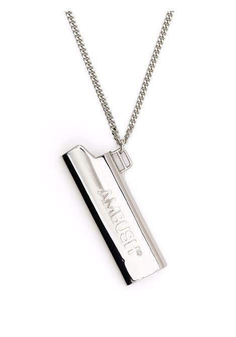 Silver-tone lighter case pendant necklace - men  AMBUSH | BMOB099F21BRA0017272
