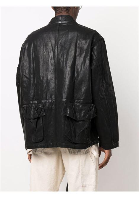 Black multiple-pocket tie-fastening jacket - men  AMBUSH | BMYE003F21DEN0031200