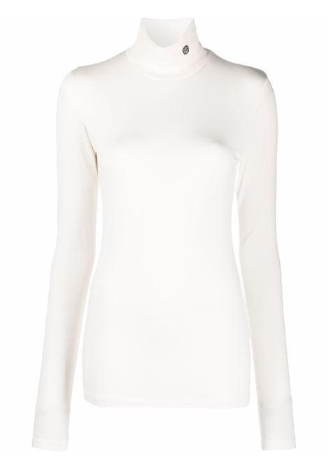 Top a collo alto in bianco - donna AMBUSH | BWAD011F21JER0010310