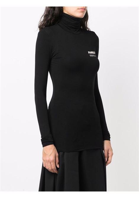 Top a collo alto in nero - donna AMBUSH | BWAD011F21JER0021003