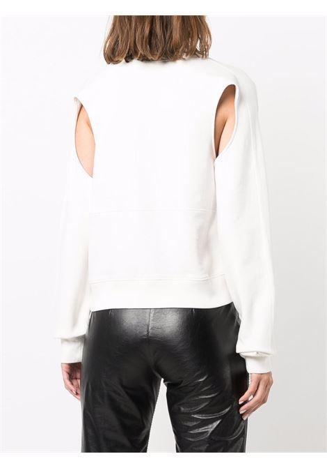 White cut-out detail sweatshirt - women  AMBUSH | BWBA009F21FLE0010303