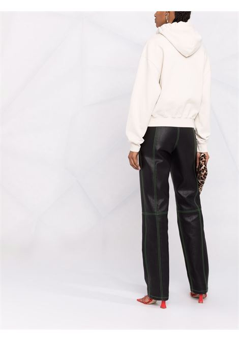 Beige multi-cord logo-embroidered sweatshirt - women  AMBUSH | BWBB004F21FLE0010404