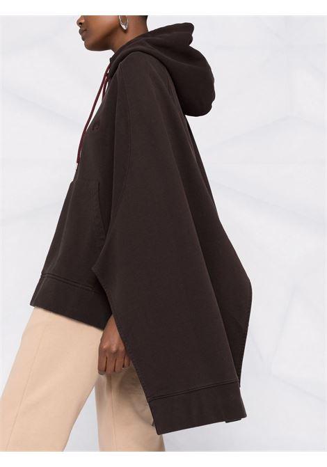 Brown hooded poncho - women  AMBUSH | BWBC001F21FLE0016464