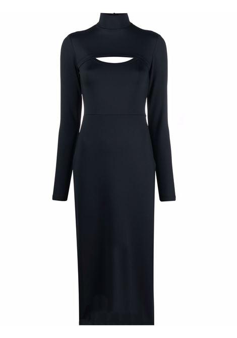 Black cut-out mid-length dress - women  AMBUSH | BWDB014F21JER0011000