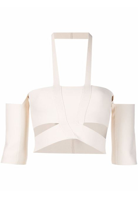 Top con dettaglio cut-out in bianco - donna AMBUSH | BWHA002F21KNI0010400