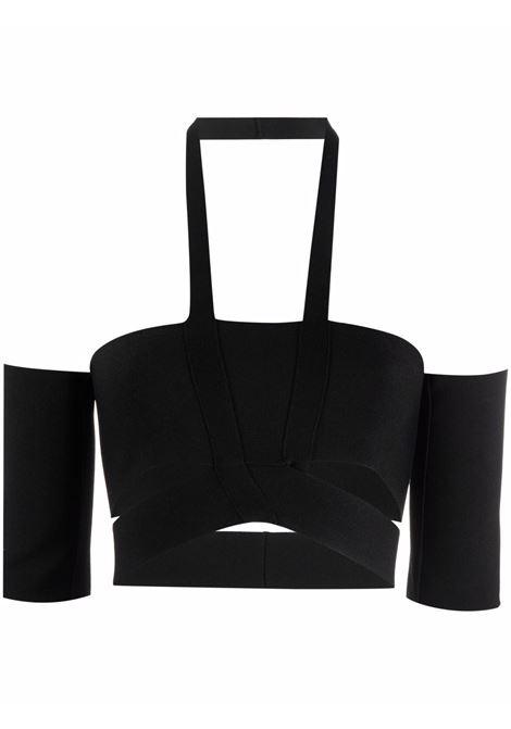 Top con dettaglio cut-out in nero - donna AMBUSH | BWHA002F21KNI0011000