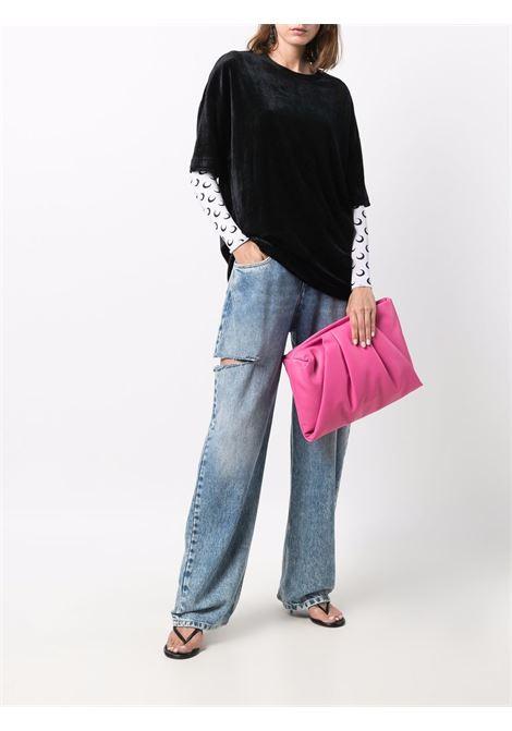 Pink Wrap clutch - women  AMBUSH | BWNM003F21LEA0013072