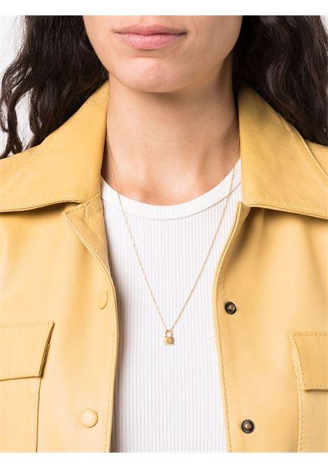 Gold-tone mini padlock pendant necklace - women  AMBUSH | BWOB029F21MET0027600