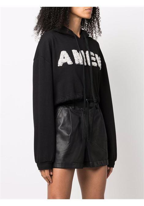 Felpa a maniche lunghe nero- donna AMEN | AMW21208009