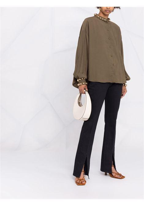 Camicia a maniche lunghe verde militare- donna AMEN | AMW21231105
