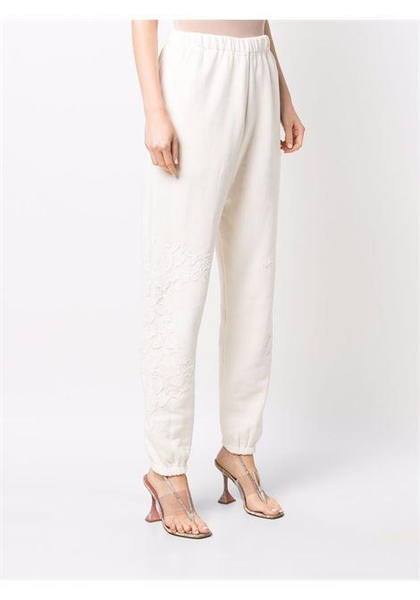 Pantalone con vita elasticizzata bianco- donna AMEN | AMW21302172
