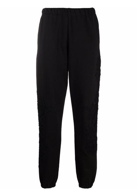 Pantalone con vita elasticizzata nero- donna AMEN | AMW21302499