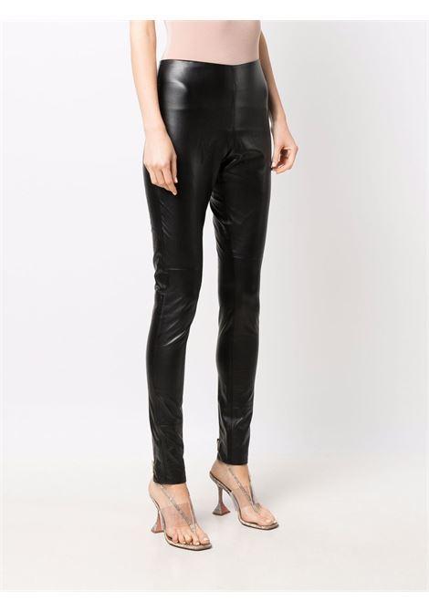 Pantalone effetto lucido nero- donna AMEN | AMW21319009