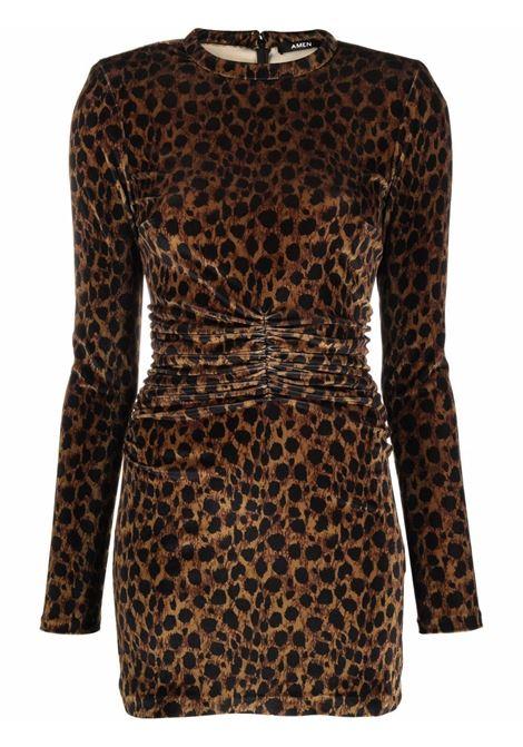 Abito con stampa leopardato- donna AMEN | AMW21404942