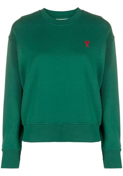 Ami de coeur sweatshirt green - women AMI PARIS | Sweatshirts | A21HJ007730300