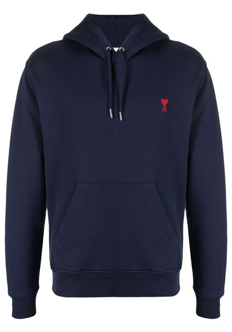 Ami de coeur sweatshirt blue - men AMI PARIS | Sweatshirts | A21HJ008730410