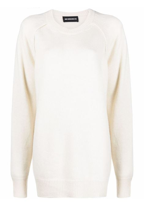 Maglione a girocollo in bianco -donna ANN DEMEULEMEESTER | 2102MKN02268002
