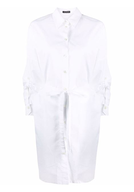 Chemisier con maniche arricciate in bianco - donna ANN DEMEULEMEESTER | 2102WDR07125001