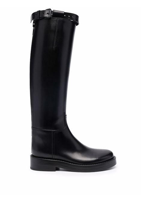 Stivali al ginocchio in nero -donna ANN DEMEULEMEESTER | 2102WR01370099