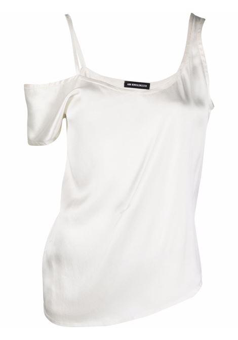 Top monospalla in bianco - donna ANN DEMEULEMEESTER | 2102WTO02145002