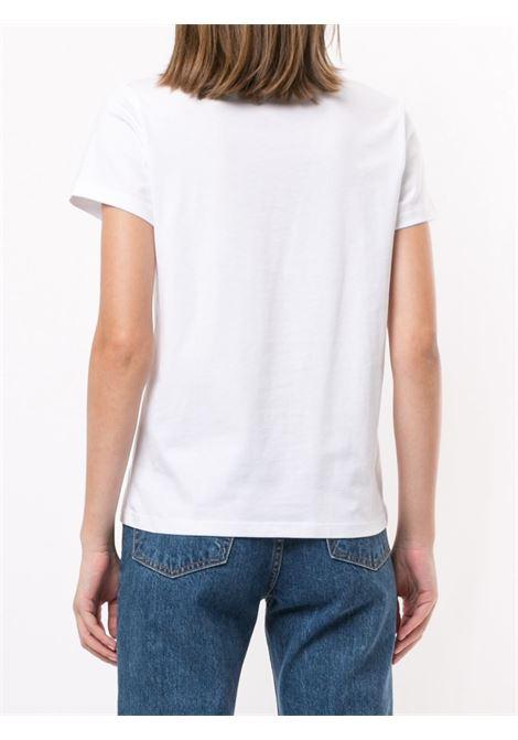 T-shirt a girocollo con stampa in bianco - donna A.P.C. | COBQXF26588IAK