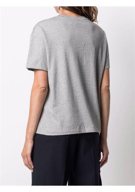 T-shirt a girocollo con stampa in grigio - donna A.P.C. | COELHF26031PLA