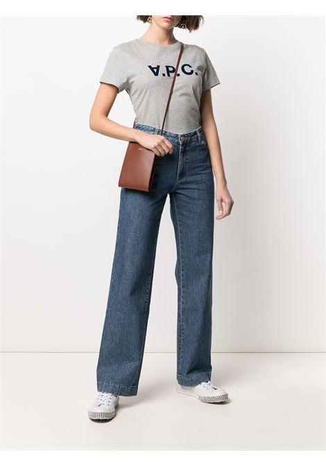 T-shirt con stampa in grigio - donna A.P.C. | COEMVF26944PLB