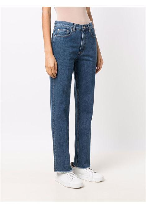 Jeans dritti a vita alta in blu - Donna A.P.C.   COEQCF09161IAL