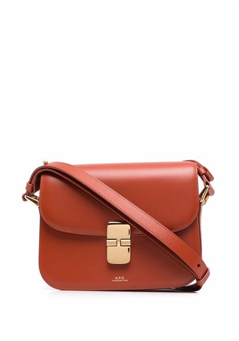 Borsa a spalla con logo marrone - donna A.P.C. | PXBMWF61413EAF