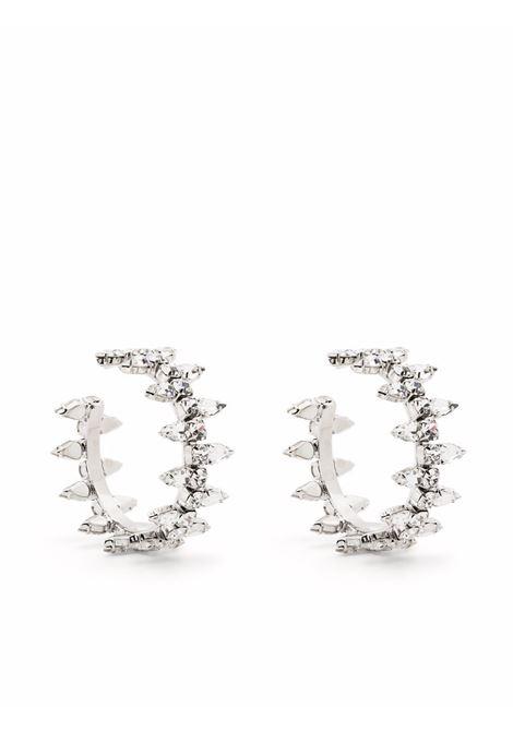 Crystal spike earrings in silver-tone - women  AREA | 2103A04CLRSLVR