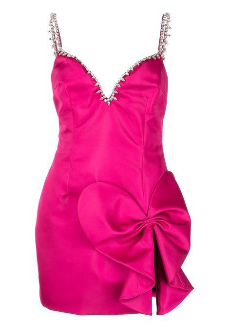 Abito corto con scollo a cuore in rosa - donna AREA | 2103D05052PNK