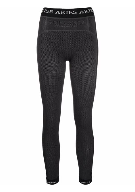 Leggings nero con logo - donna ARIES | FSAR00200BLK