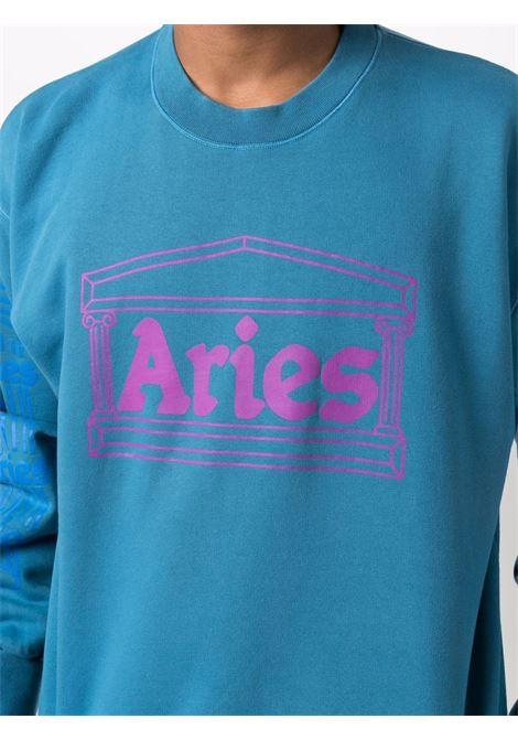 Long sleeve sweatshirt blue- unisex ARIES | FSAR20001OLS