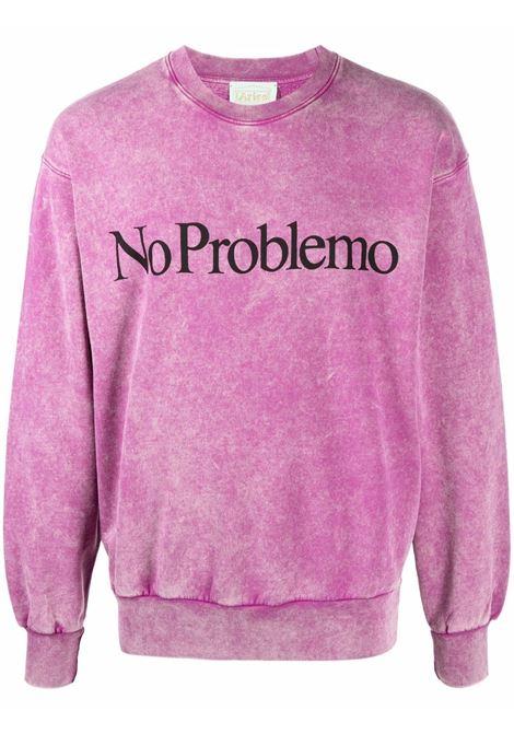 Violet No Problemo tie-dye sweatshirt - unisex ARIES | FSAR20002ASR
