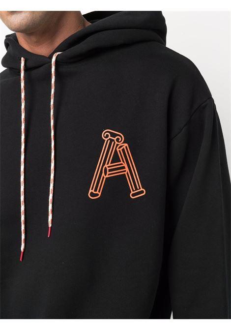 Black Greek Column-print sweatshhirt - men ARIES | FSAR20010BLK