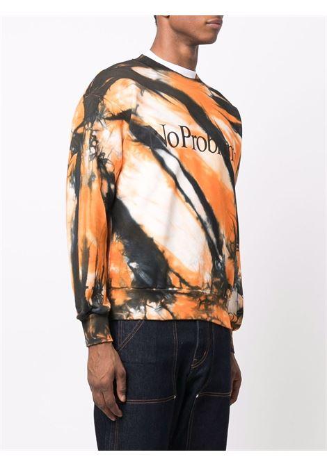 Multicolored tie-dye print sweatshirt - men  ARIES | FSAR20222MLT