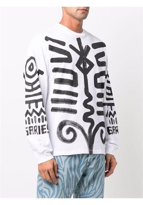 White Bodypaint-print sweatshirt - unisex  ARIES | FSAR60008WHT