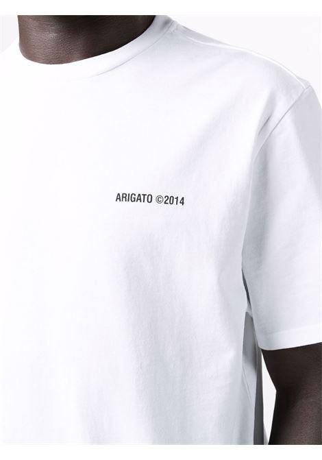 T-shirt a girocollo con logo in bianco - uomo AXEL ARIGATO   15432WHT