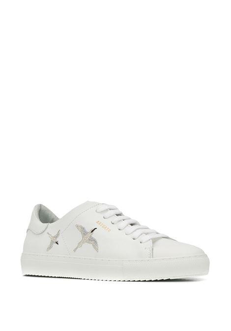 Sneakers clean con ricamo bianco- uomo AXEL ARIGATO | 98515WHTSLVR