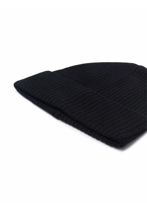 Cappello beanie a coste in nero - uomo BALLANTYNE | T2N0075K01515517