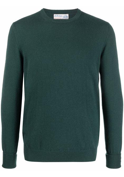 Maglione in maglia fine in verde - uomo BALLANTYNE | T2P00012K0012585