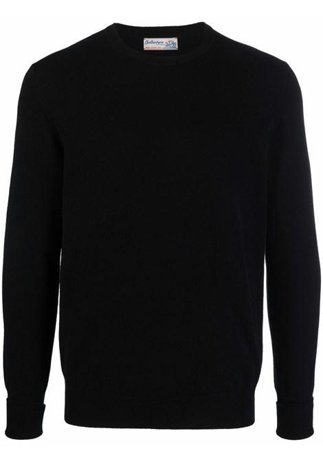 Maglione in maglia fine in nero - uomo BALLANTYNE | T2P00012K0015517