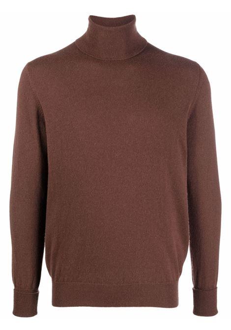 Maglione a collo alto in marrone - uomo BALLANTYNE | T2P00212K0014885